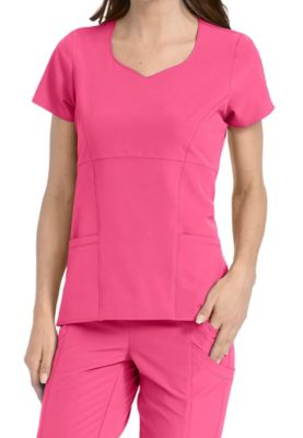 Med Couture 4-Ever Flex Polly 2-Pocket Flounce Scrub Tops