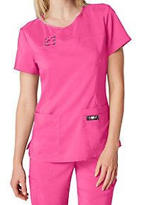 Koi Tech Serena Mock Wrap Scrub Tops