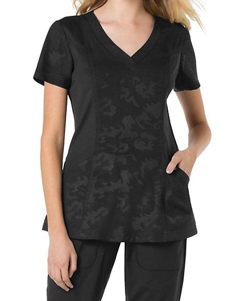 Koi lite asana tonal camo printed scrub tops scrubs beyond for Koi warehouse sale