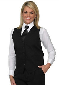 Henry Segal Black Extended Ladies Vest