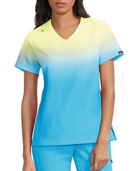b2707a9f88b Koi Lite Reform Ombre V-neck Scrub Tops | Scrubs & Beyond