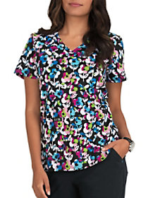 Butterfly Confetti V-Neck Print Top
