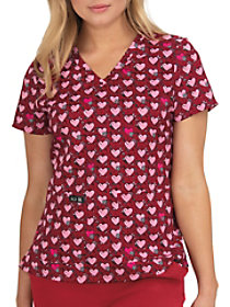 Baby Hearts V-Neck Print Top