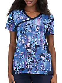 Butterfly Flight Crossover Print Top