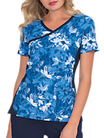 Into The Blues Crossover Print Top