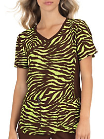 Tiger Crossover Print Top