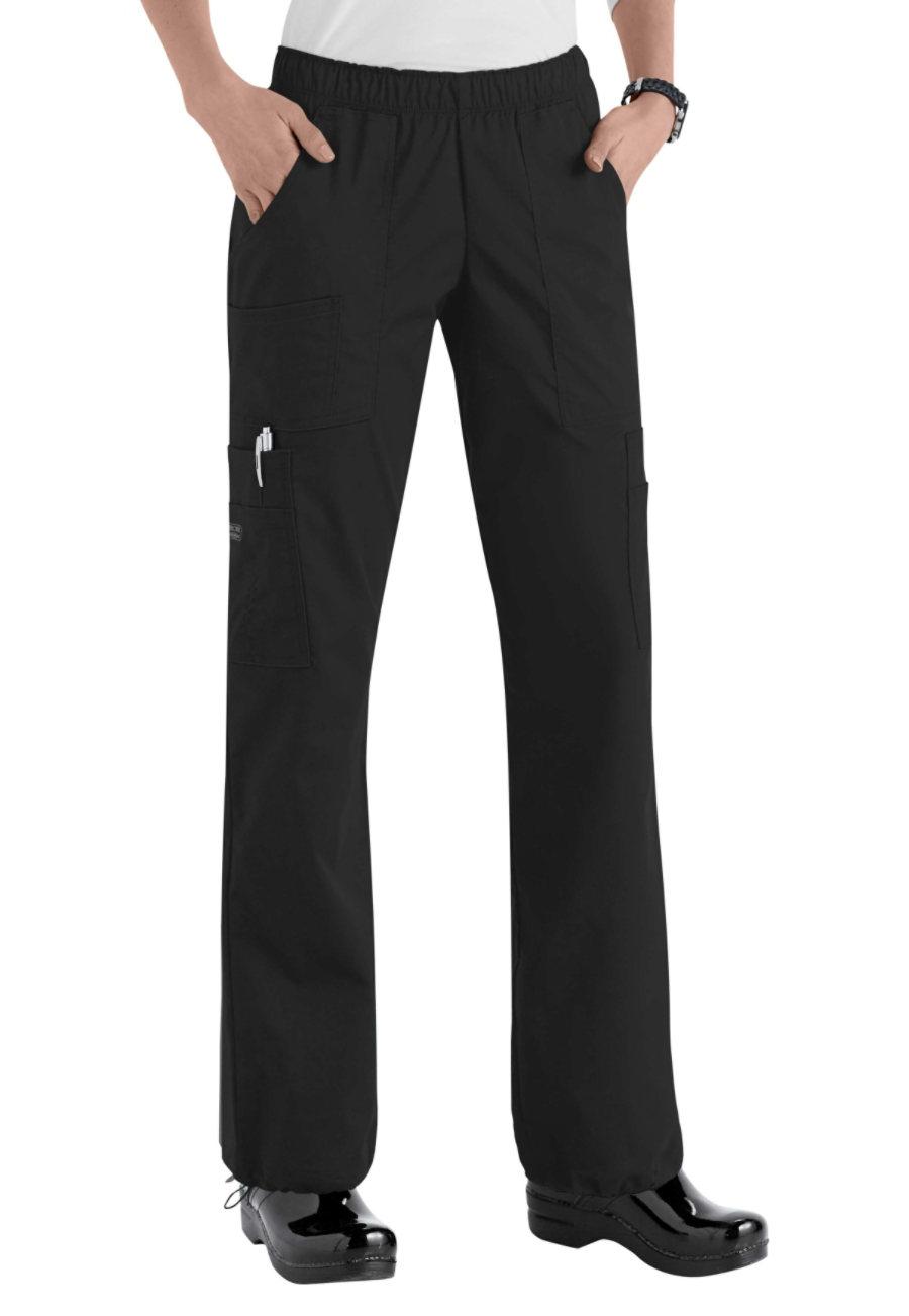 Cherokee Workwear Core Stretch Comfort Waist Cargo Scrub Pants - Black - 4X