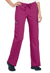 Cherokee Workwear Low Rise Drawstring Cargo Scrub Pants