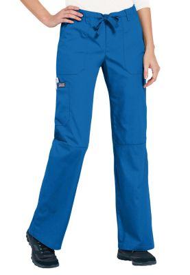 Cherokee Workwear Low Rise Drawstring Cargo Scrub Pants