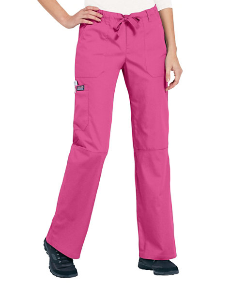 aa7db7b057e Cherokee Workwear Low Rise Drawstring Cargo Scrub Pants | Scrubs & Beyond