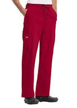Cherokee Workwear Core Stretch Unisex Drawstring Scrub Pants Red
