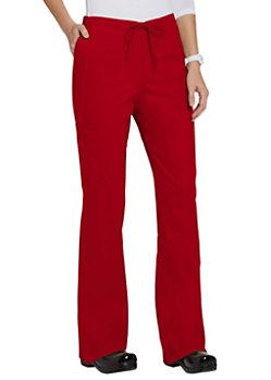 Cherokee Workwear Core Stretch Drawstring Cargo Scrub Pants Red