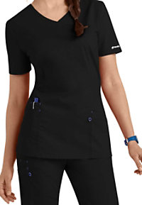 Landau Work Flow 3-pocket V-neck Scrub Tops
