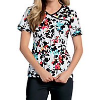 Landau Smart Stretch Carnivale Crossover Print Tops