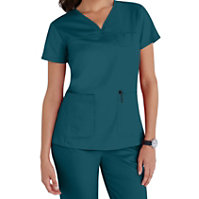 Grey's Anatomy 3 Pocket V-neck Yoke Tops