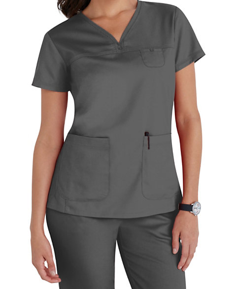 Grey S Anatomy 3 Pocket V Neck Yoke Scrub Tops Scrubs