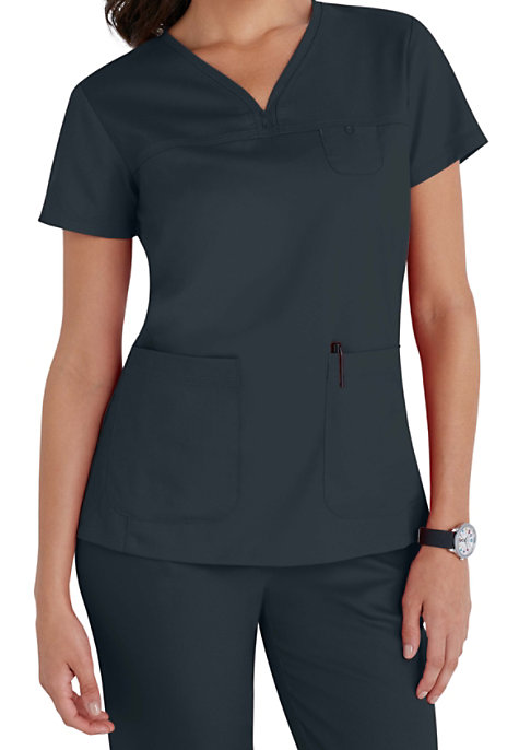 Grey\'s Anatomy 3 Pocket V-neck Yoke Scrub Tops | Scrubs & Beyond