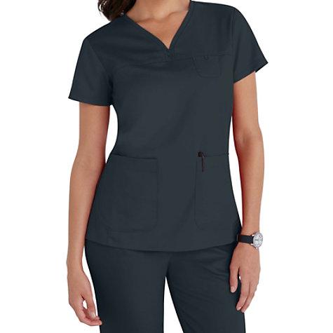 Grey\'s Anatomy 3 Pocket V-neck Yoke Scrub Tops | Uniform City