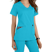 Grey's Anatomy V-neck Fashion Pocket Tops