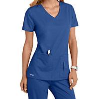 Grey's Anatomy 4 Pocket Crossover V-neck Tops