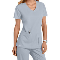 Grey's Anatomy 4 Pocket Crossover V-neck Tops