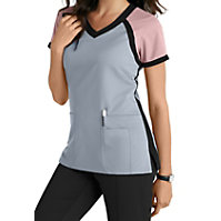 Grey's Anatomy Color Block V-neck Tops