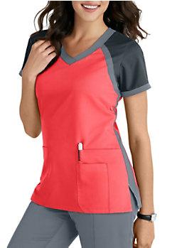 1d5c894a66b Grey's Anatomy 2 Pocket V-neck Scrub Tops | Scrubs & Beyond