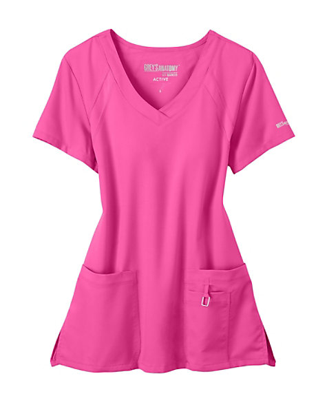 db85876bbb4 prev. next. Product Video; Grey's Anatomy Tonal Raglan Sleeve Scrub Top; Grey's  Anatomy ...