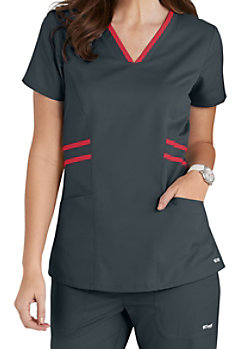 fb32873c523 Greys Anatomy tonal raglan sleeve scrub top. | Scrubs & Beyond