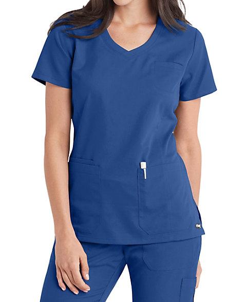 Grey's Anatomy V-neck 4 Pocket Scrub Tops   Scrubs & Beyond