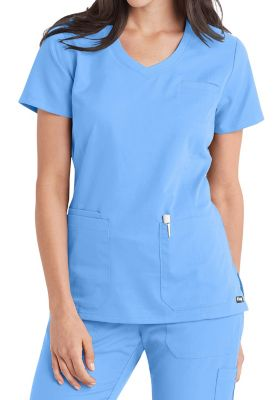 Grey's Anatomy V-neck 4 Pocket Scrub Tops