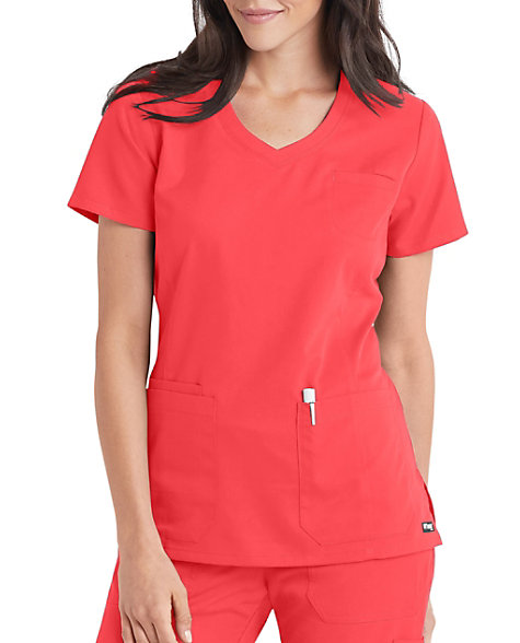 faa01645b97 Grey's Anatomy V-neck 4 Pocket Scrub Tops | Scrubs & Beyond