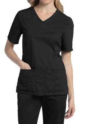 Landau For Women Prewashed V-neck Scrub Tops