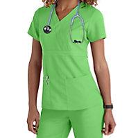 Grey's Anatomy 3 Pocket Mock Wrap Tops