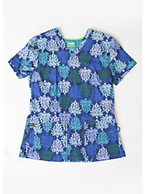Opulent Blues Print Top