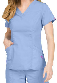 Med Couture Paige V-neck Scrub Tops