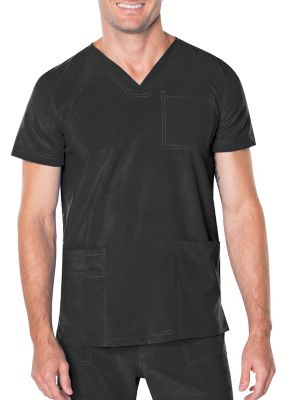 Landau Proflex Men's 3 Pocket V-Neck Scrub Top