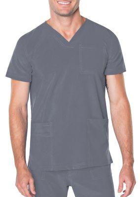 Landau Proflex Men's 3 Pocket V-Neck Scrub Top