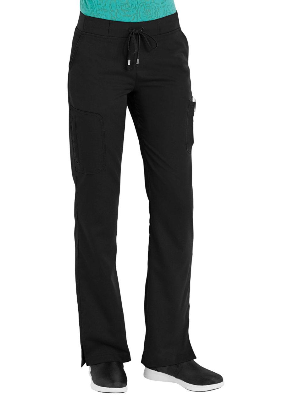 Grey's Anatomy Destination 6 Pocket Cargo Scrub Pants - Black - 2X