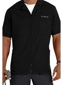 Short Sleeve Zip Front Jacket
