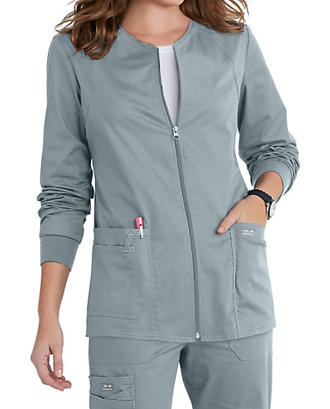 53ce64a4fb1 Cherokee Workwear Core Stretch Zip Front Warm Up Scrub Jackets | Scrubs &  Beyond