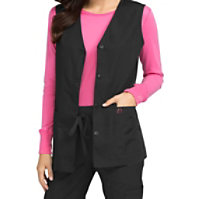 Med Couture Women's Button Front Vest