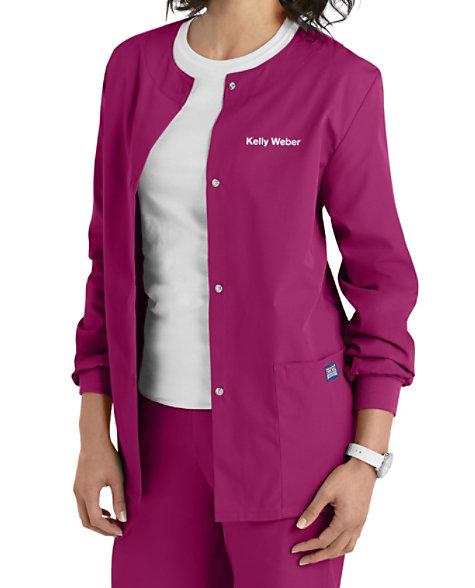 Cherokee Workwear Snap Front Warm-Up Scrub Jacket | Scrubs ...