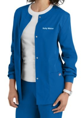 Cherokee Workwear Snap Front Warm-Up Scrub Jacket