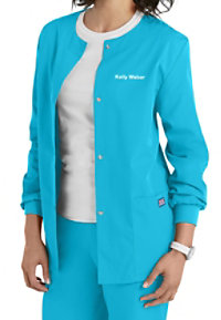 Cherokee Workwear Snap Front Warm-Up Scrub Jacket