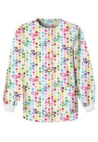 Cherokee Scrub HQ Butterfly Dots Print Scrub Jackets