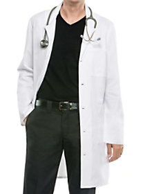 38 Inch Button Front Lab Coat