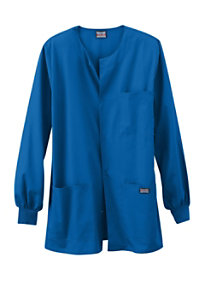 Cherokee Workwear Men's Snap Front Scrub Jackets
