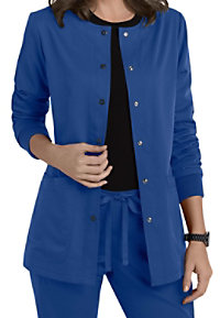 Grey's Anatomy 4 Pocket Snap Front Scrub Jackets