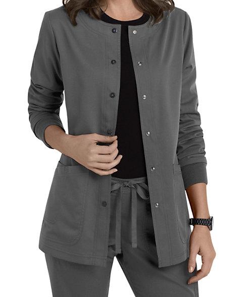 Grey's Anatomy 4 Pocket Snap Front Scrub Jackets | Scrubs ...